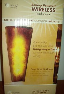 EXCITING LIGHTING BATTERY POWERED WIRELESS WALL SCONCE MODEL EZ1002 IN