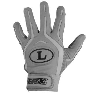 Slugger TPX Pro Design BG26 Batting Gloves Gray Gray XL