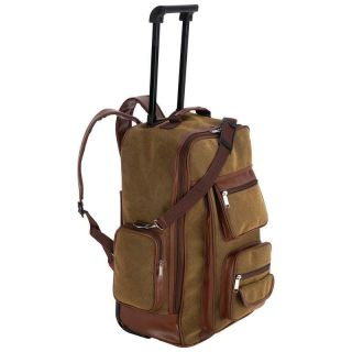 Backpack Rolling Bag Cart Suitcase Trolley Luggage Embassy Travel Gear