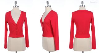 Basic Solid Button Down Long Sleeve Cropped V Neck Cardigan Various