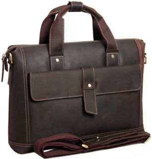 Genuine Leather Briefcases Laptop Bags Business Cases Messenger TIDING