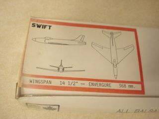 Aristo Craft Swift Flying Balsa Wood Model Airplane Kit SEALED