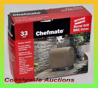 NEW in Box Chefmate 33 Inch Barrel BBQ Grill Cover Bar B Q Target