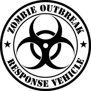 Outbreak Response Vehicle Car Door Decal Sticker 16 Huge