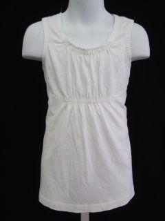 Garnet Hill Girls White Sleeveless Shirt Top Size M