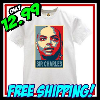 New Charles Barkley Obama T Shirt Phoenix Suns TNT