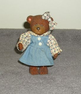 "Russ Barrie Teddy Town Bear ""Country Girl in Denim"""