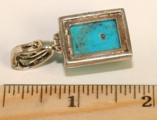 Vintage Barse .925 Sterling Silver Large Blue Turquoise Stone Latch