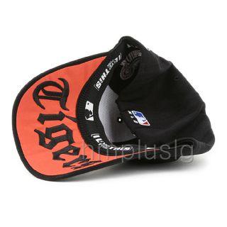 Detroit Tigers Flex Fit Baseball Ball Cap Hat MB Black