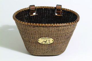 Bike Basket Nantucket Wicker Lightship C Video Dark Oval Bicycle Bar