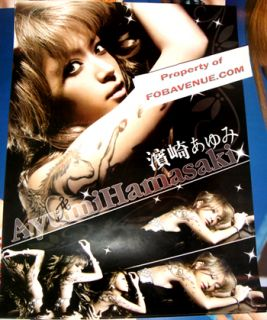 Japan Ayumi Hamasaki Sexy Tattoo CD DVD Ayu Poster XL