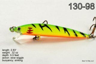 Lot O 5 Firetiger Fishing Lure Bait Tackle 4 Bass Trout