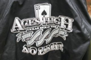 Texas Hold em Aces High No Limit Embroidered Jacket by Steve & Barrys