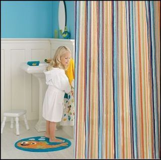 Jumping Beans Striped Multi Color Kids Shower Curtain New