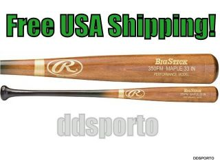 350FM 33 Inch Performance Maple Wood Baseball Bat Big Stick Wooden Bat