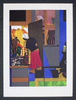 Romare Bearden Open Door Print Lithograph Original Signed Art 1979