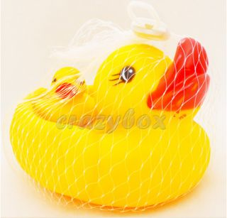 Funny Baby Bath Toys Rubber Race Ducks Yellow for kids Gift Baby