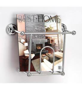 Decorative Chrome Wall Mounted Magazine Holder Bathroom Accessory