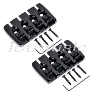 pcs Black Heavy 4 String Bass Guitar Bridge 19mm String Spacing