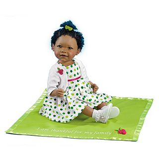 Musical African American Baby Doll Jada and Blanket