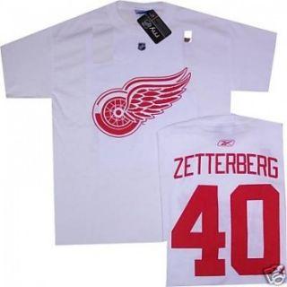 Detroit Red Wings Henrik Zetterberg White Jersey T Shirt Sz Small