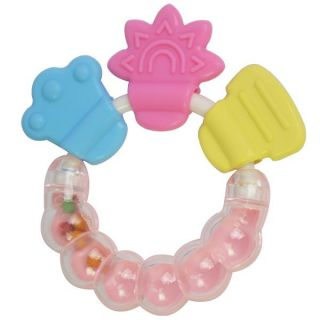 Cute Baby Bell Silicone Teether Teething Pacifier Rattle Toy Shower