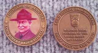 Baden Powell Coin Boy Scouts Eagle Scout OA RARE Issue