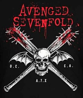 Avenged Sevenfold A7X Bats Metal Rock T Shirt s XL