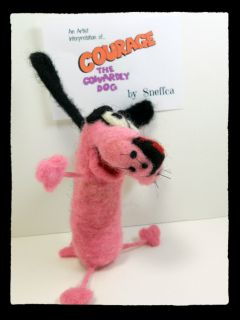 Sneffcas World Needle Felted Courage The Cowardly Dog Cartoon Network