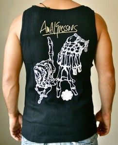 NWT $77 AMAL GUESSOUS A&G ROCKN ROLL COUTURE MENS MEN BLACK TANK TOP