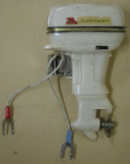 1960s Johnson 40HP Battery Operated Toy Outboard Boat Motor
