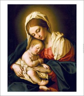 Giovanni Battista Salvi Madonna and Child Print New