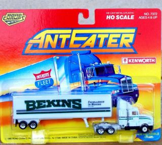 1992 Road Champs AntEater Bekins Moving Tractor Trailer Truck HO Train