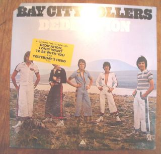 Bay City Rollers Record Album Dedication Mint SEALED