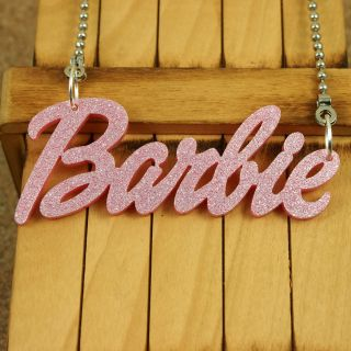 Acrylic Pendant Kitsch Barbie Name Necklace Jewelry Nicki Minaj