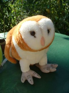 International Stuffed Plush Barn Owl Bird Toy or Display