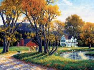 Masterpieces Randy Van Beek Quiet Autumn Days Jigsaw Puzzle   300 pc
