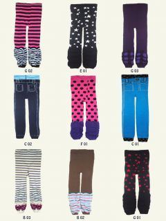 Baby Toddler Girl Jeggings Leggings Tights with Legwarmers