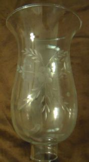 Clear Cut Flower Glass Hurricane Lamp Shade Candle Chandelier Light, 5