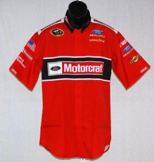 Trevor Bayne Motorcraft Wood Brothers Race Used NASCAR Pit Crew Shirt