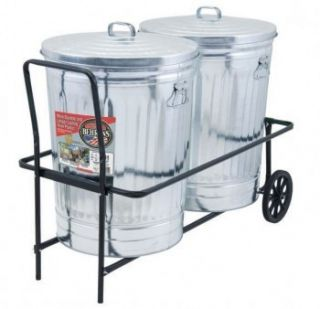 Behrens NTC501 TCC 2 Can Rolling Garbage Trash Can Cart w 250 lb