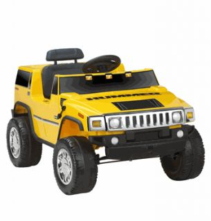 Kids Battery Powered Ride on Toy Yellow Hummer 6V Volt Car SUV