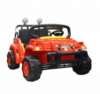 kids battery powered ride on toy 2 seats seater boys girls red jeep
