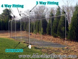 Baseball Softball Batting Cage 60 ft Frame Kit 1 5 8 In
