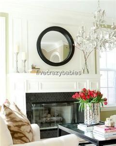 Large 40 Round Wall Mirror Wood  Nautical Porthole