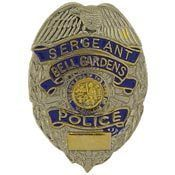 Bell Gardens Sergeant Police Officer Lapel Badge Pin