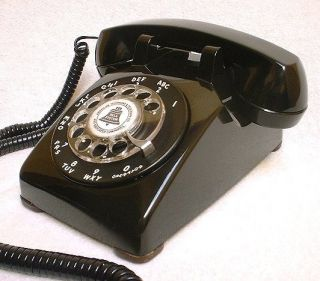 Electric Rotary Dial Bell Telephone Old Retro Desk Phone Beauty
