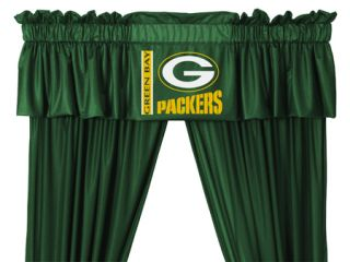 Green Bay Packers Valance 63 or 84 Curtain Set