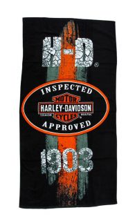 Harley Davidson 1903 Vintage Road Sign Beach Towel 30 in. X 60 in.