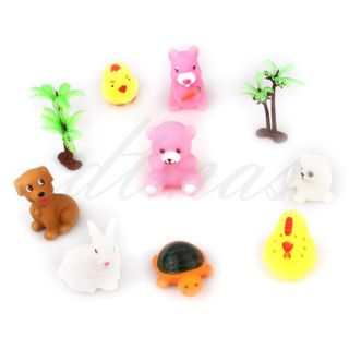 Set 8 Baby Toddler Kids Bath Float Animals Toys Christmas Gift 2 Grass